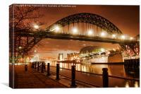 Tyne Bridge,Newcastle, Canvas Print