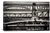 Bridges Across the Tyne, Canvas Print