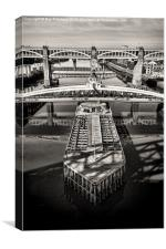 Swing Bridge, Canvas Print