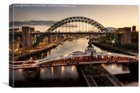 Morning on the Tyne, Canvas Print