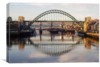 Sun On The Tyne, Canvas Print