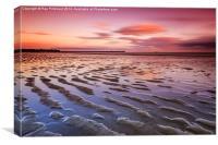 South Shields Beach, Canvas Print