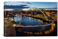 View of the River Tyne , Canvas Print