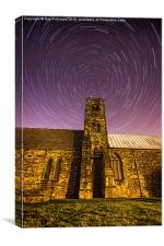 St Pauls Church with Star Trails, Canvas Print