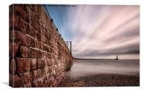 Roker Pier at Sunderland, Canvas Print