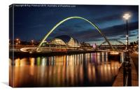 Millennium Bridge at Newcastle, Canvas Print