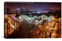 Newcastle Central Station , Canvas Print