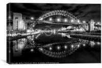 Tyne Bridge Reflected, Canvas Print