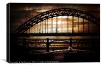 Textured Tyne Bridges, Canvas Print