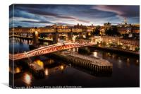 View from the Tyne Bridge, Canvas Print