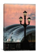 Tyne Bridge Lamp, Canvas Print