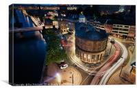Newcastle Light Trails, Canvas Print