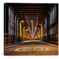 Bus Trails on the High Level Bridge, Canvas Print