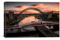 Sunrise over the Tyne, Canvas Print