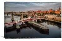 Early Morning on the Tyne, Canvas Print