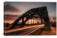 Tyne Bridge Light trails, Canvas Print