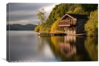 Boathouse On Ullswater, Canvas Print