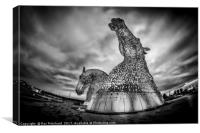 Kelpies Through a Fisheye, Canvas Print