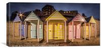 Newcastle Quayside Beach Huts, Canvas Print