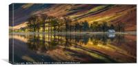 Buttermere Trees Reflected, Canvas Print