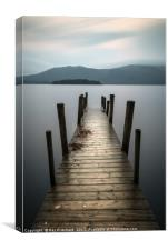 Hawes End Jetty, Canvas Print