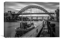 Boat on the River Tyne, Canvas Print