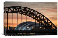 Tyne Bridge Sunrise, Canvas Print