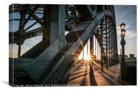 Sun Through the Tyne Bridge, Canvas Print