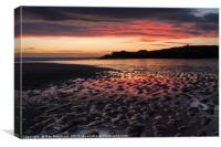 South Shields Beach at Sunrise, Canvas Print