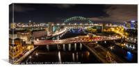 Tyne Bridge Panorama , Canvas Print
