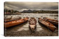 Derwent Water Boats, Canvas Print