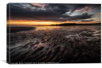sunrise over South Shields Beach, Canvas Print