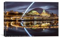 Gateshead Millennium Bridge, Canvas Print