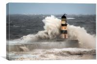 High Seas at Seaham, Canvas Print