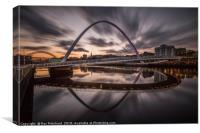Millennium Bridge Refelcted, Canvas Print