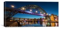 Tyne Bridge at Dusk, Canvas Print