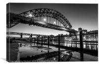 Tyne Bridge and a Puddle, Canvas Print