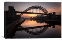 Sunrise at the Tyne Bridge, Canvas Print