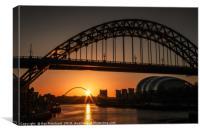 Tyne Bridge Sunrise , Canvas Print