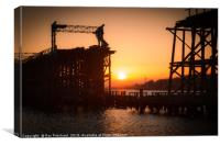 Dunston Staithes at Sunset, Canvas Print