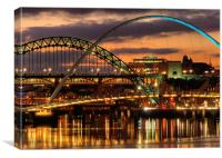 Tyne Bridges,Newcastle, Canvas Print