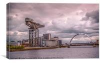 Finnieston Crane and Arc Bridge, Glasgow, Canvas Print