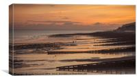 Eastbourne Beach After Sunset, Canvas Print