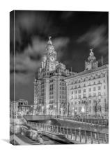 Liver Building Night Time Long Exposure, Canvas Print