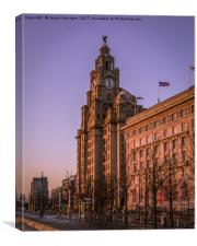 The Liver Building - Purple Skies, Canvas Print