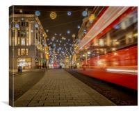 Oxford Street Glow, Canvas Print