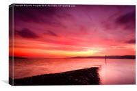 Fiery Dawn, Strone Point, Scotland, Canvas Print