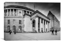 Manchester Central Library, Canvas Print