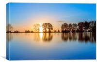 Sunrise Lake, Canvas Print
