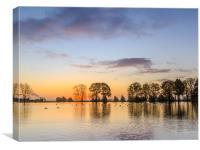 Sunrise Lake, Canvas Print